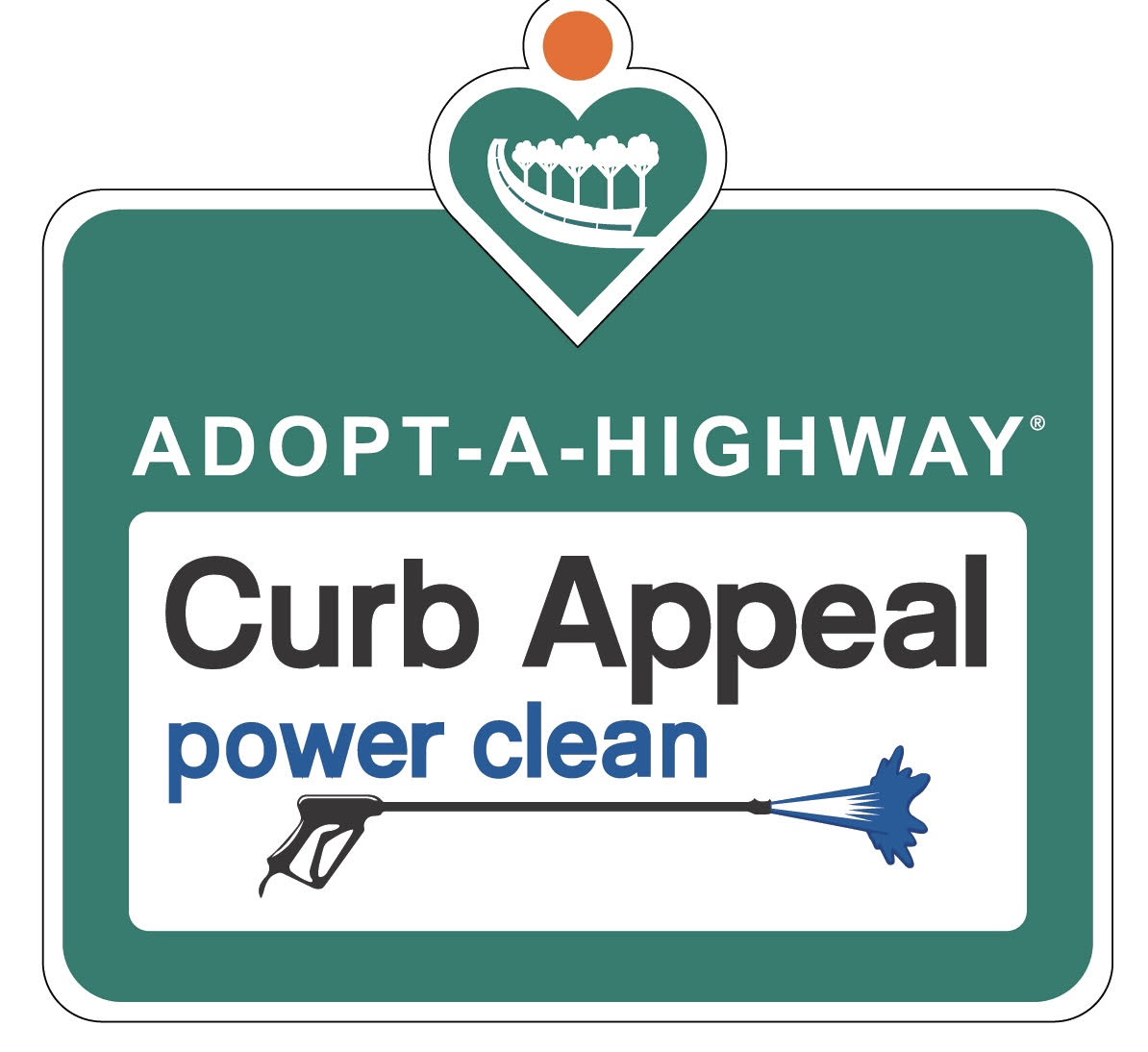Adopt a Highway Curb Appel Power Clean