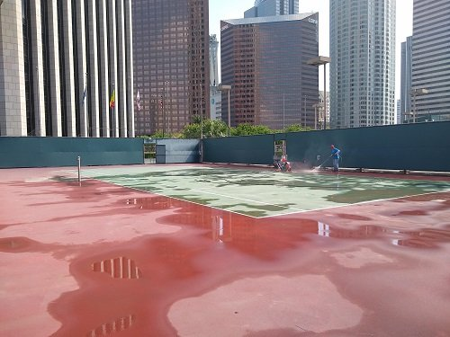 Tennis Court Cleaning Los Angeles