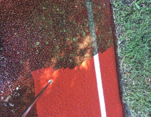 .Track & Field Course Cleaning